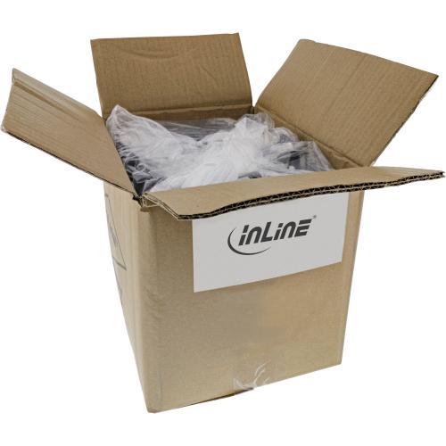 40er Bulk-Pack InLine Patchkabel S/FTP (PiMf) Cat.6 250MHz PVC CCA grau 2m