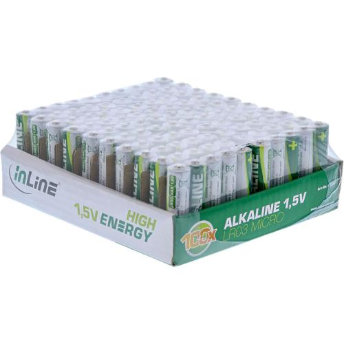 InLine Alkaline High Energy Batterie Micro (AAA) 100er Pack